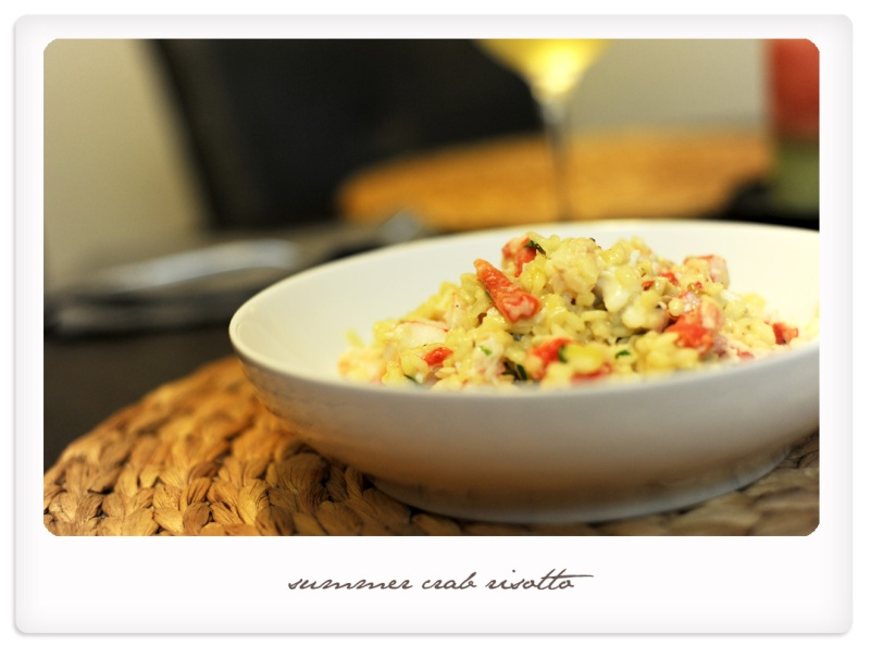 summer crab risotto
